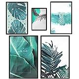 decomonkey | Poster 5er – Set schwarz-weiß Abstrakt Kunstdruck Wandbild Print Bilder Kunstposter...