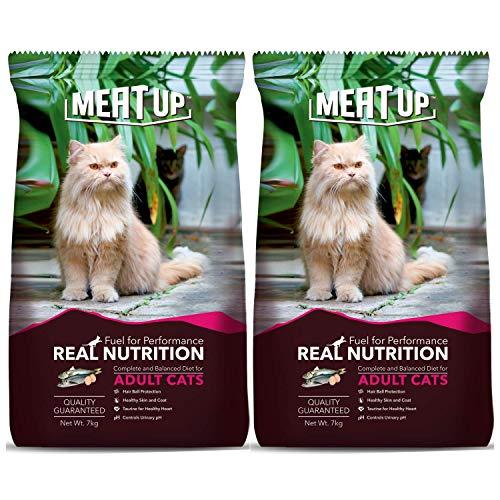 Meat Up Adult(+1 year) Dry Cat Food, Ocean Fish, 7kg...