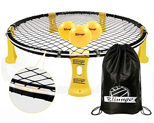 Blinngoball Outdoor Games Set Includes Shelf Body, Playing Net, 3 Balls, Drawstring...