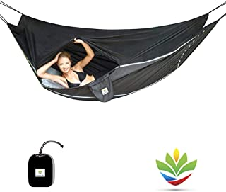 Hammock Bliss Sky Bed Bug Free - Insect Free Hanging Tent That Hangs Like A Hammock But Sleeps Like A Bed - Unique Asymmet...
