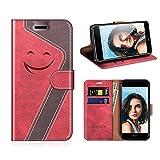 MOBESV Smiley Portefeuille Huawei Nova 2, Coque Cuir Huawei Nova 2 Magnétique Étui Housse Cover...