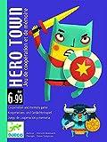 Djeco- Hero Town C Juego de Cartas con Superhéroes y Villanos para Niños a Partir de 6 Años, Multicolor (DJ05143)
