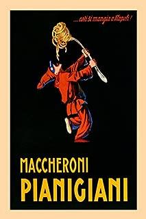 Pierrot Spaghetti Pasta Maccheroni Pianigiani Italy Italia Italian Food Vintage Poster Repro 20