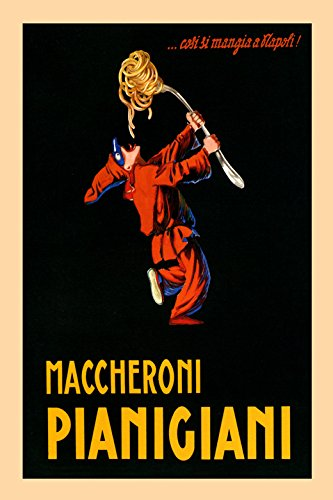 "Pierrot Spaghetti Pasta Maccheroni Pianigiani Italy Italia Italian Food Vintage Poster Repro 16"" X 24"" Image Size. We Have Other Sizes Available!"