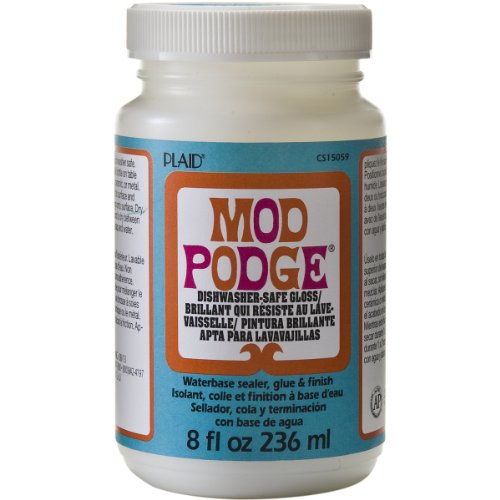 Mod Podge Dishwasher Safe Waterbased Sealer, Glue and Finish (8-Ounce), CS15059 Gloss, 8 ounce