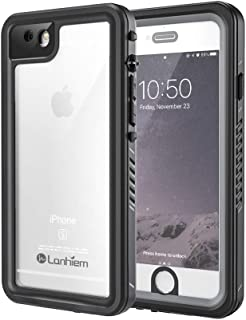 Lanhiem iPhone 6 / 6s Case, IP68 Waterproof Dustproof Shockproof Case with Built-in Screen Protector, Full Body Sealed Underwater Protective Cover for iPhone 6 and iPhone 6s (Black/Gray)