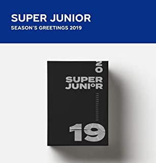 SM Entertainment 2019 Super Junior Season's Greetings Greetings 2Calendars+DVD+Diary+12On Pack Posters+Sticker+Extra Photocards Set