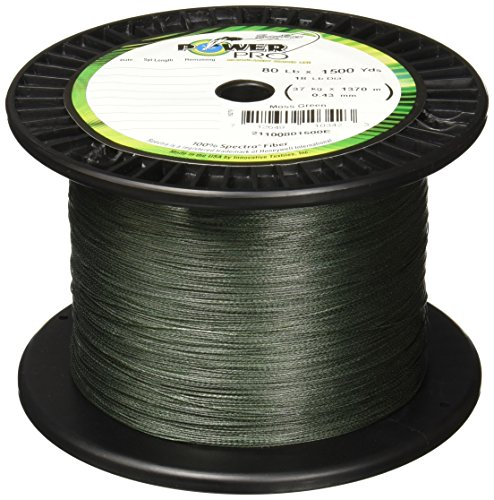 Power Pro Spectra Fiber Braided Fishing Line, Moss Green, 300YD/10LB