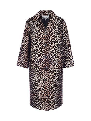 Ganni Luxury Fashion Damen F5013943 Braun Leinen Mantel   Herbst Winter 20