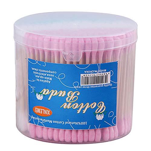 iFCOW Lot de 300 cotons-tiges jetables en bambou pour nettoyage de maquillage