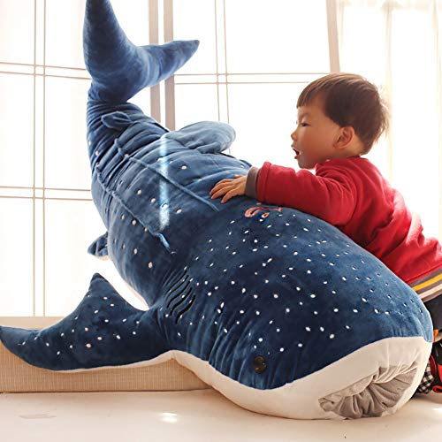 beiguoxia Niedlicher Hai Plüsch Spielzeug Niedlich Hai Plüsch Spielzeug Big Fish Tuch Puppe Wal gefüllt Kinder Geburtstag Geschenk Spielzeug für alle Altersgruppen