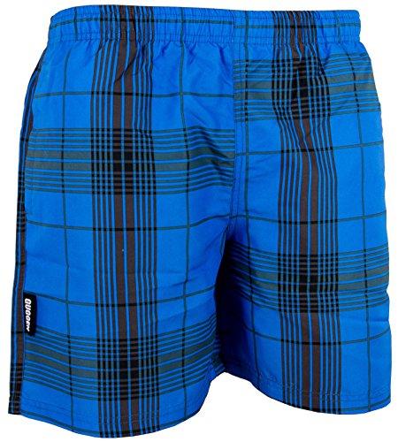 GUGGEN Mountain Badehose für Herren Schnelltrocknende Badeshorts Style-4 Beachshorts Boardshorts Schwimmhose Männer kariert Farbe Blau L