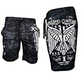Xtreme Couture Affliction Men Shorts Connect Athletic Fighter MMA Gym S-5XL $54 (2XL) Black White