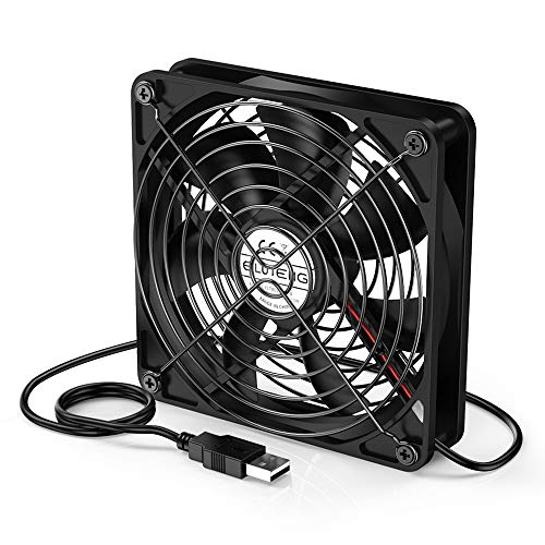 ELUTENG USB y Ventilador de PC 120 mm Ventiladores PC Silenciosos 12cm Silent 5V USB Mini Fan para Router Mini PC PS4 PS3 Xbox DVD Player