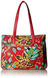 Vera Bradley womens Bag Vera Bradley Women s Signature Cotton Commuter Tote Totes Rumba with Red One Size, Rumba, One Size US