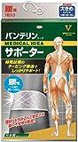 バンテリン コーワ サポーター 腰用大きめサイズ シャイニンググレー 1個