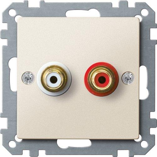 Merten MEG4350-0444 stopcontact voor audio-aansluiting, wit, systeem M