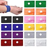 SITAKE 10 Pairs Motion Sickness Wristbands for Kids Bracelet, Pregnancy Anti Nausea Wristband for Sea Car Flying Pregnant Travel Sickness, Seasick Wristbands for Pregnancy Children Adults (10 Colors)