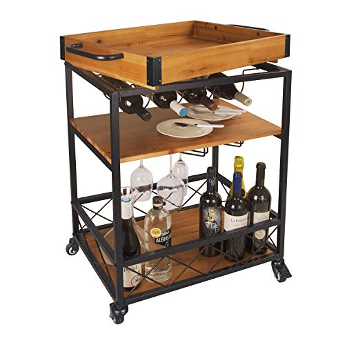 Wood Serving Cart Wedding Registry Ideas for a Gay Couple Who Has Everything