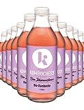 KOMBUCHERY® Raw Johannisbeere - Premium Kombucha 12er-Set - Fermentiert, Bio, Vegan & Probiotisch - Wenig Zucker & Kalorienarm - 12 x 330ml