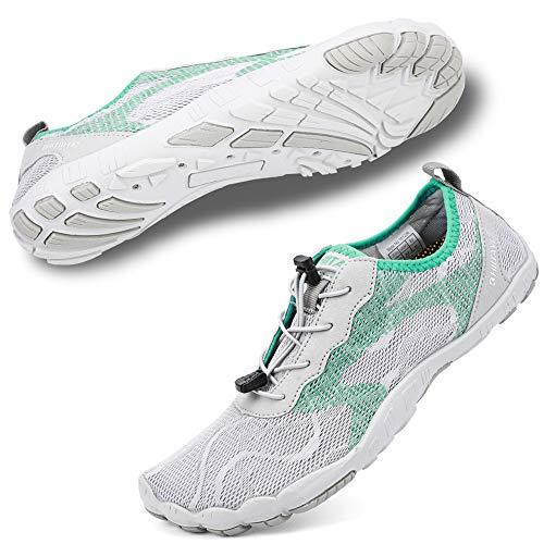 Hiitave - Zapatillas de agua para hombre, ajuste ancho, para correr, para gimnasio, playa, yoga, natación, surf, buceo, canotaje, conducción, color, talla 36.5 EU