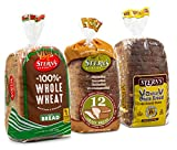 Whole Grain Bread | Sandwich Bread | 3 Flavor Variety Bundle | (1) 12 Grain Bread (1) 6 Grain Bread (1) 100% Whole Wheat Bread | 2-3 Day Shipping | 16 oz per Loaf - Stern's Bakery [ 3 Loaves of Bread Included ]
