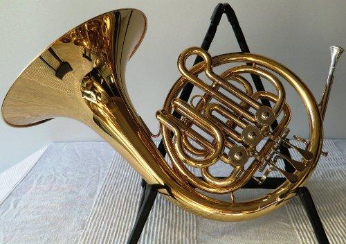 Symphonie Westerwald - Trompa en si bemol para niños, plateada/dorada, con maleta de transporte y accesorios