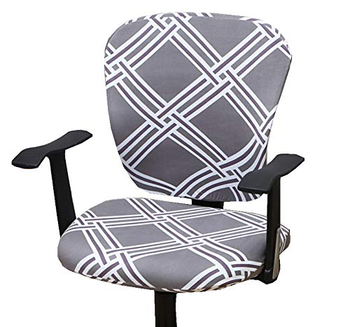 Computer Office Chair Cover - Protective & Stretchable Universal Chair Covers Stretch Rotating Chair Slipcover (M)