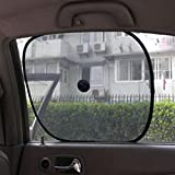 2Pcs Universal Black Mesh Car Side Rear Window Sunshade Cover Visor Shield UV Ray Protector Privacy Screen Baby Side Window Car Sun Shades with See Through View