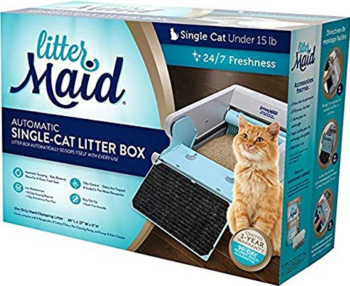 LitterMaid LM680C Single Cat Self-Cleaning Litter Box w/8 receptacles/8 Filters