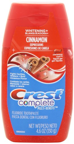Crest Complete Multi-Benefit Whitening Plus Expressions Cinnamon Rush Liquid Gel Toothpaste 4.6...