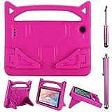 SourceTon Flre 7 - Funda para Tablet con 2 lápices capacitivos universales (Mango a Prueba de Golpes, 2 Estilos), Color Rosa