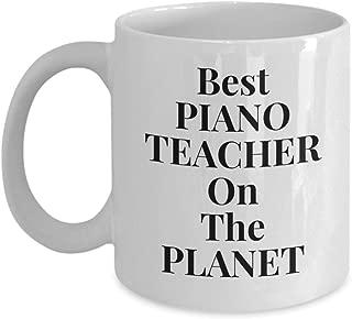Best Piano Teacher Gift Mug Coffee Cup | Instructor Tutor Appreciation Present