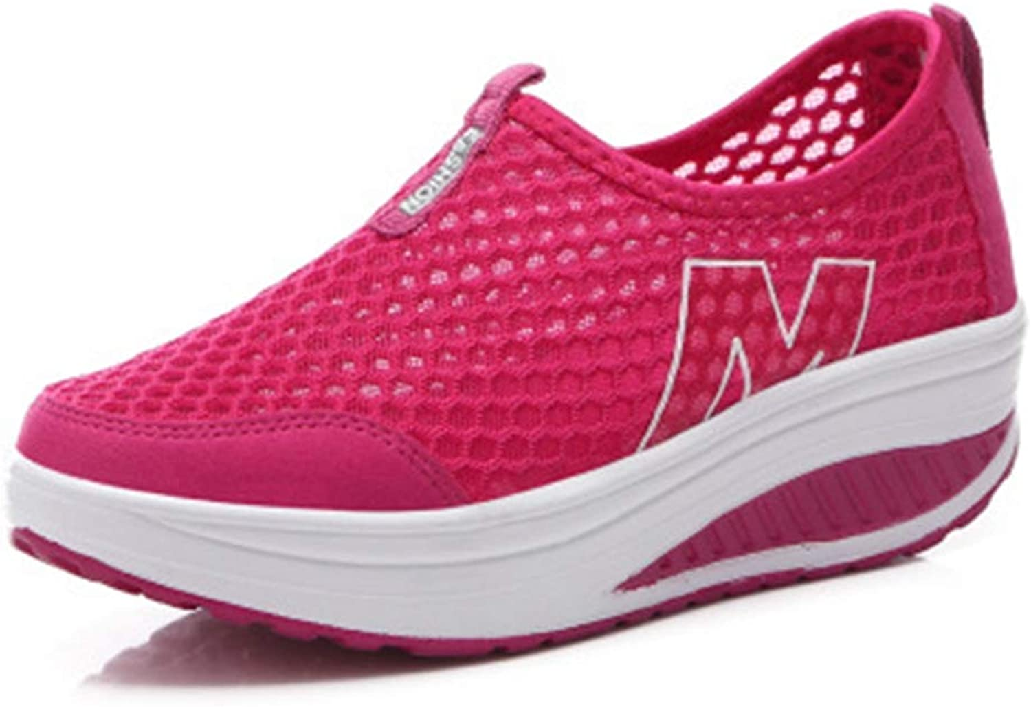 ASO-SLING Womens Walking Sneakers Breathable Mesh Comfortable Casua Outdoor Athletics Sports shoes