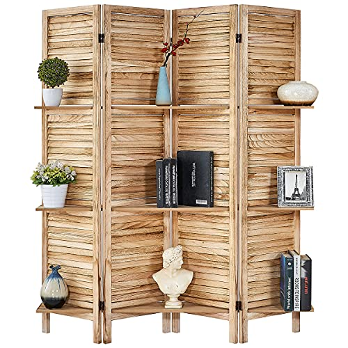 5.6 Ft Wood Folding Soundproof Room Divider By RHF