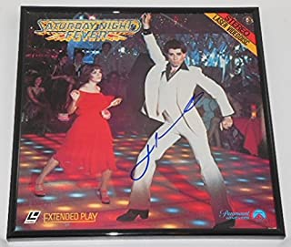 Saturday Night Fever John Travolta Signed Autographed LaserDisc Movie Framed Loa
