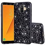 Jonerytime for Samsung Galaxy A6 A600 2018 Bling Luxury Glitter Diamond TPU Case Cover (Black)