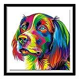 Diamante completo 5D DIY pintura de diamantes'perro colorido'...