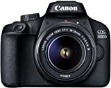 Canon EOS 3000D 18MP Digital SLR Camera (Black) with 18-55mm...