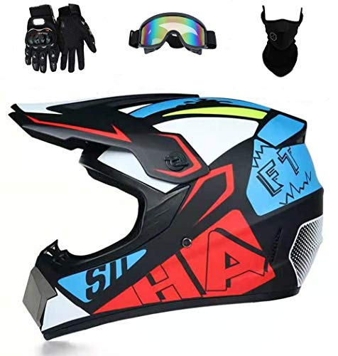 Product Image 1: Senhill Motocross Helmet Offroad Helmet DOT/FMVSS 218 Approved Dirt Bike ATV Motorcycle Helmet with Gloves Goggles Mask