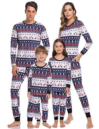 Hawiton Pijamas Navidad para Familias Pijama Mujer Hombre Ni