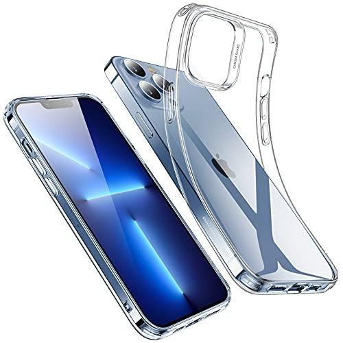 ESR Klare Silikon Hülle Kompatibel mit iPhone 13 Pro Hülle, Dünne Handyhülle, Kristallklare Schocksichere Schutzhülle, Transparentes Vergilbungsresistentes TPU, Klar