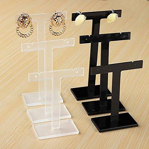GOZAR 3Pcs T Forma Pendientes Display Stand De Plástico