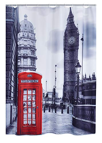RIDDER 4003300 Duschvorhang Textil ca. 180 x 200 cm, London