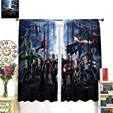 GY Fashion Curtains Superhero Movie war Horror Cool 3D Anime boy Girl Children Room Decoration Custom Curtains Top Curtains for Kitchens, cafes, and Living Rooms 42x63inch(107x160cm)