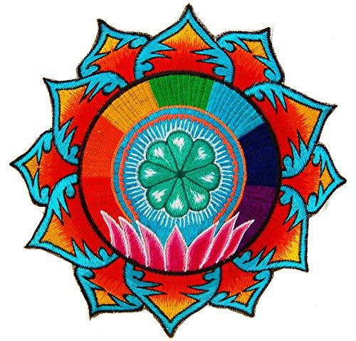 ImZauberwald Huichol Peyote Lotus ~ 17,78 cm Rainbow Mescaline Spiritual Mandala Art