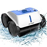 PAXCESS Cordless Robotic Pool Cleaner - Wall-Climbing Fuction with Smart Route Plan, Automatic Pool Vacuum, Max Surface Cleaning & Powerful Suction, MAX 90 mins, for 1614 sq ft in/Above Ground Pools