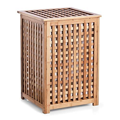 Zeller 13438 Wäschetruhe, Bamboo, ca. 40 x 40 x 58 cm