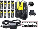 Best Xit Rechargeable Batteries - Ultra Hi 8-AA Battery With AC-DC Dual Turbo Review