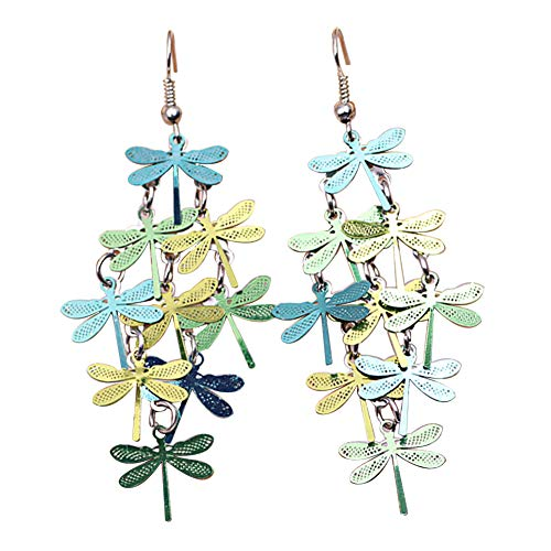Afco Women Dragonfly Hollow Dangle Hook Earrings,Fashion Christmas Jewelry Gift 6#